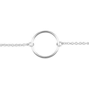 All thee luck in the World - Armband - Souvenir Circle - silver