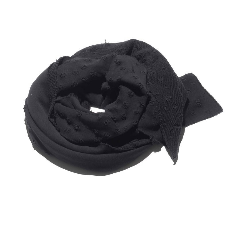 Black by K&M - scarf - suffice - holes -  black