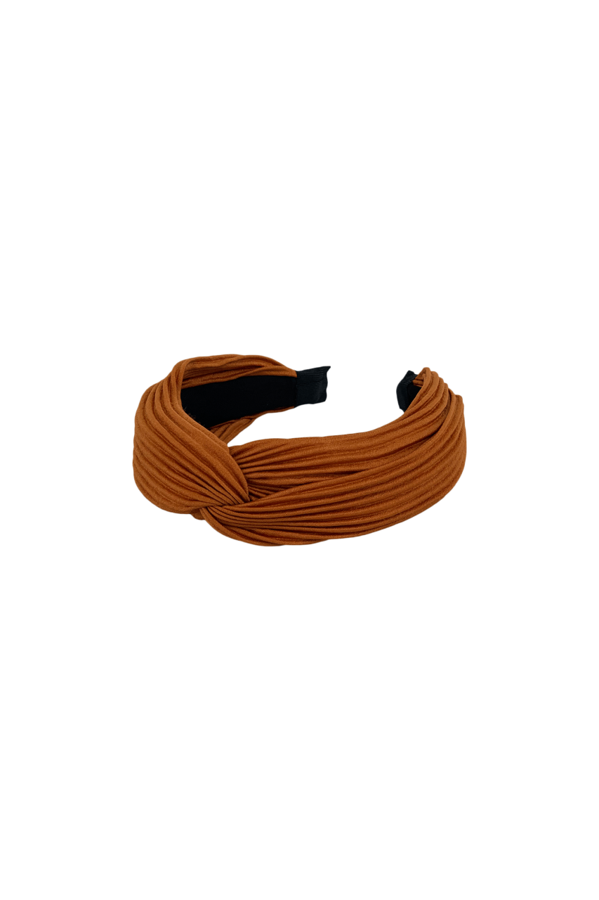 Colour - Headband - Plisse - camel