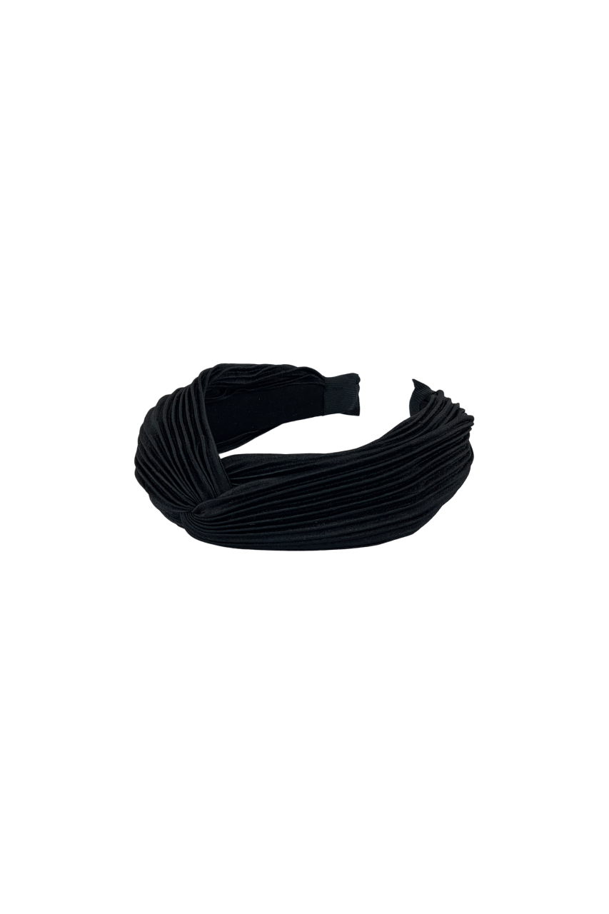 Colour - Headband - plisse - black