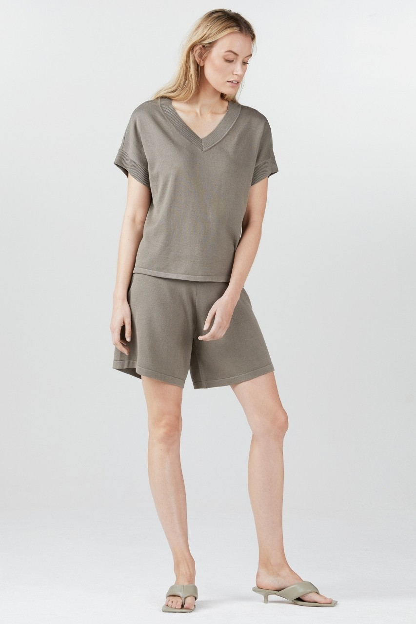 Simple - Delia - Shorts - khaki
