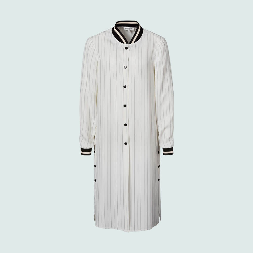 Studio Italy - Coat - striped - white