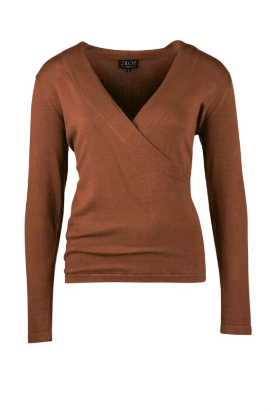 Zilch - Cross - Bamboo-Pullover - 02BAS30.017 - Wood