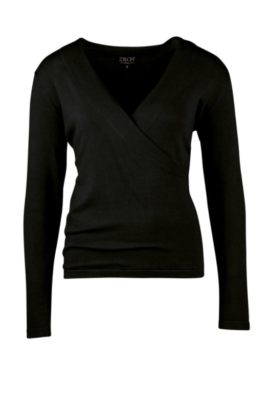 Zilch - Cross - Bamboo-Pullover - 02BAS30.017 - Black