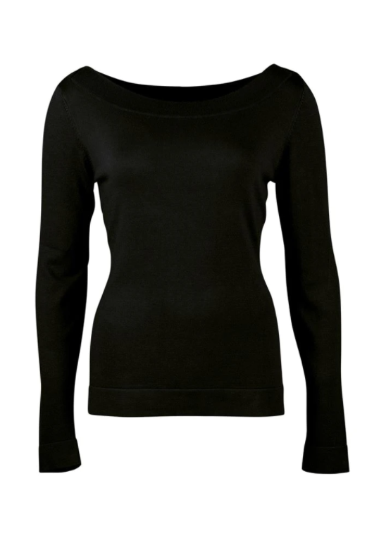 Zilch - Sweater Boatneck - Black - 02BAS30.016