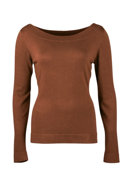 Zilch - Sweater Boatneck - Wood - 02BAS30.016