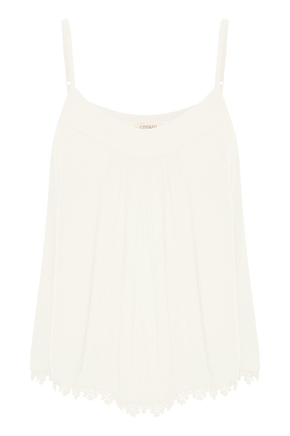 Cream Clothing - Allie strap top - white