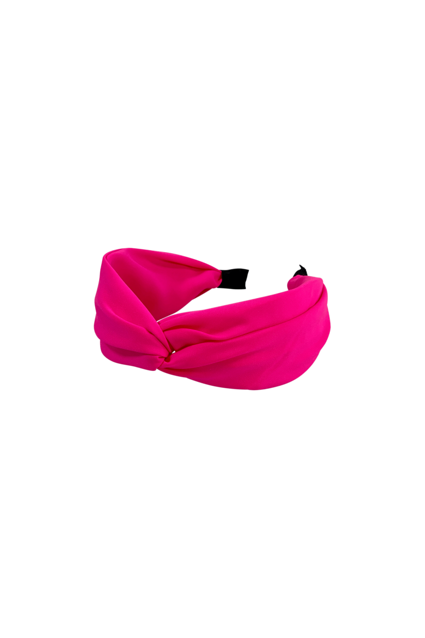 Black Colour - Headband - Nova - neon pink