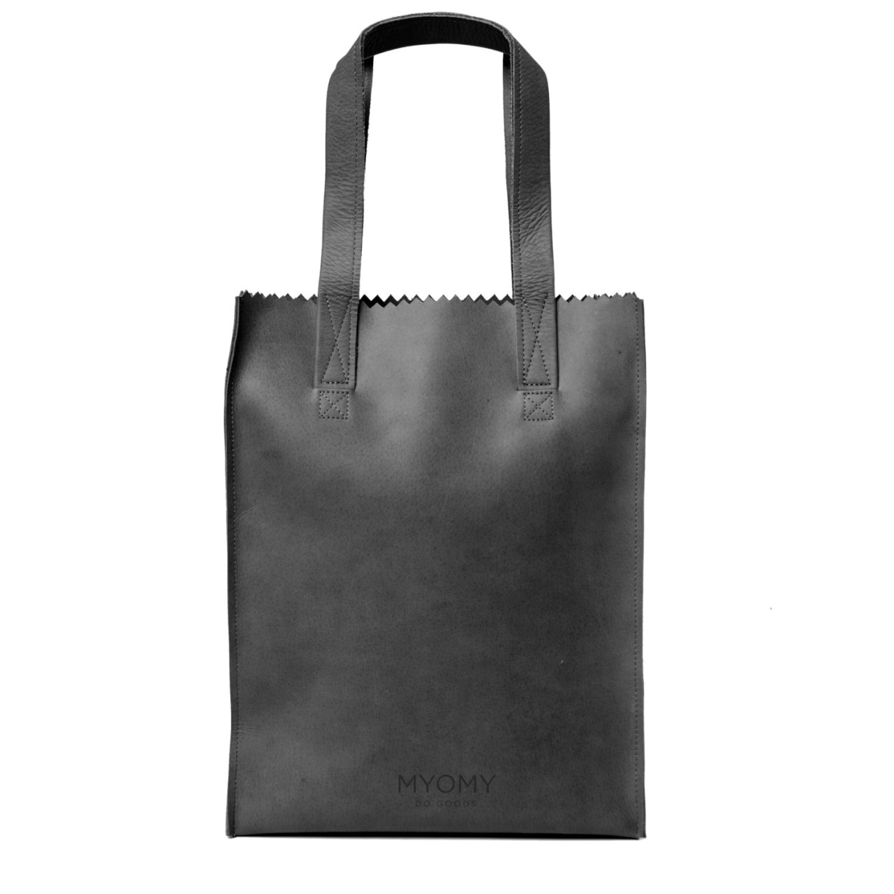 Myomy - My Paper Bag - Long handle zip - hunter off-black