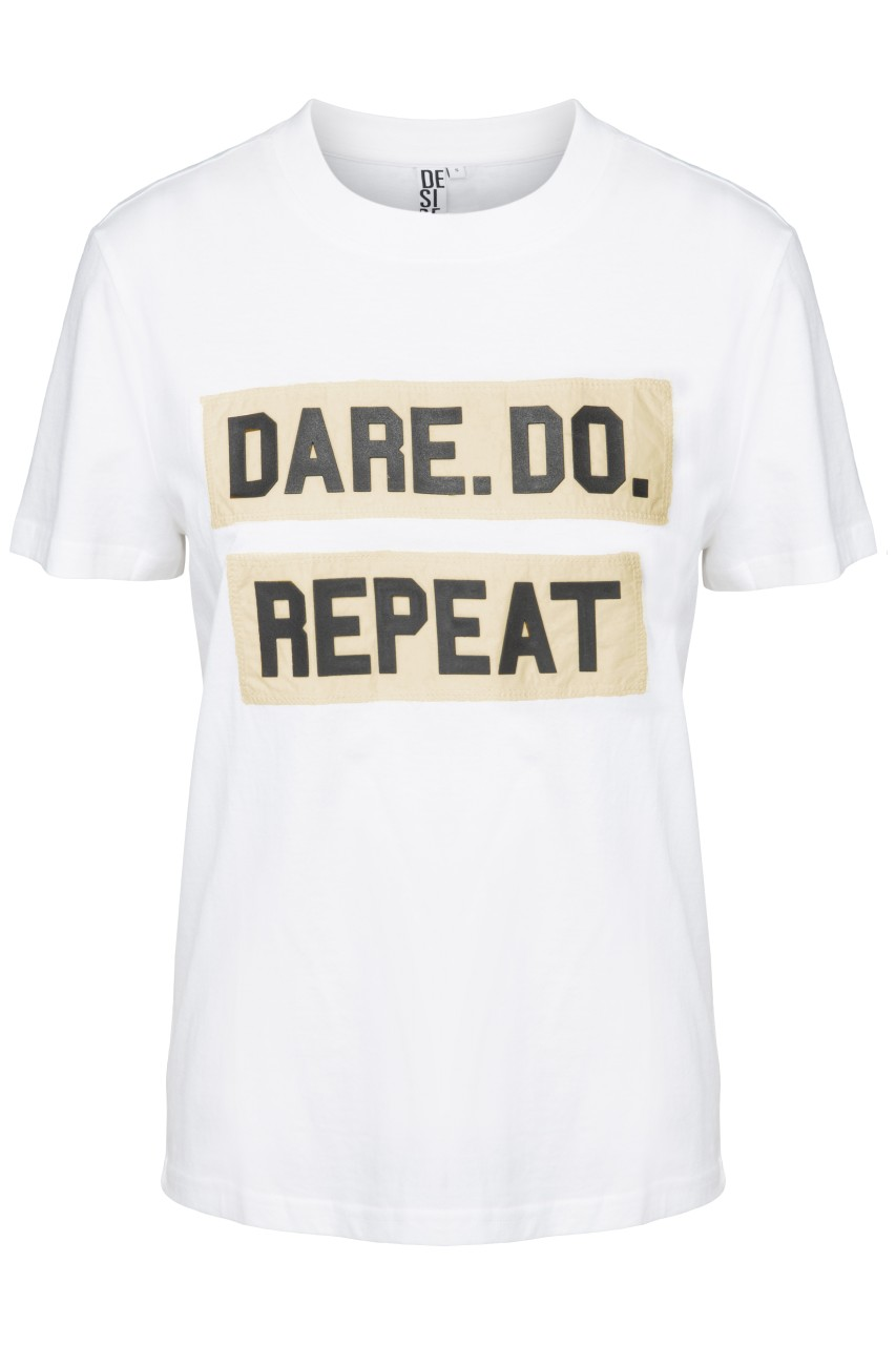 Desires - A Dare Tee - White - DE2089