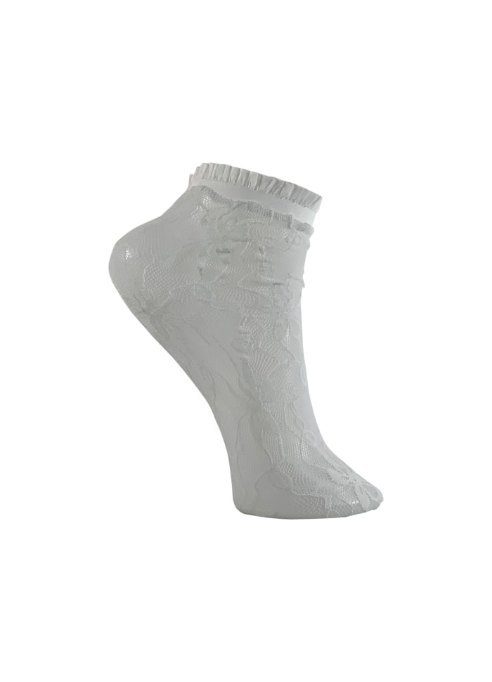 Colour - Anclesocks - Lace - white