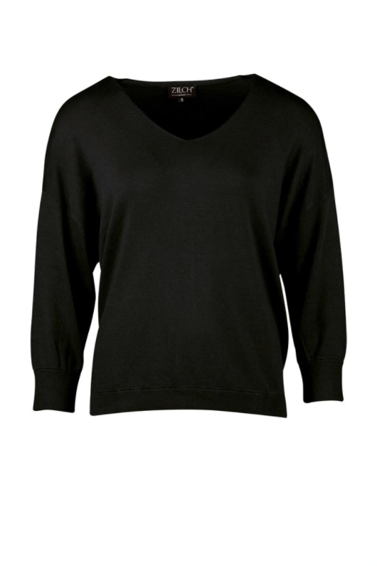 Zilch - V-Neck - Sweater - 02BAS30.048 - black