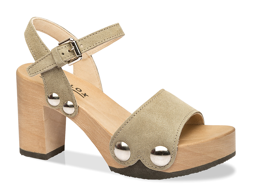 Clogs - Clog Eilyn Kaschmir olive (hazelnut)  - Onlineshop Olden Mea