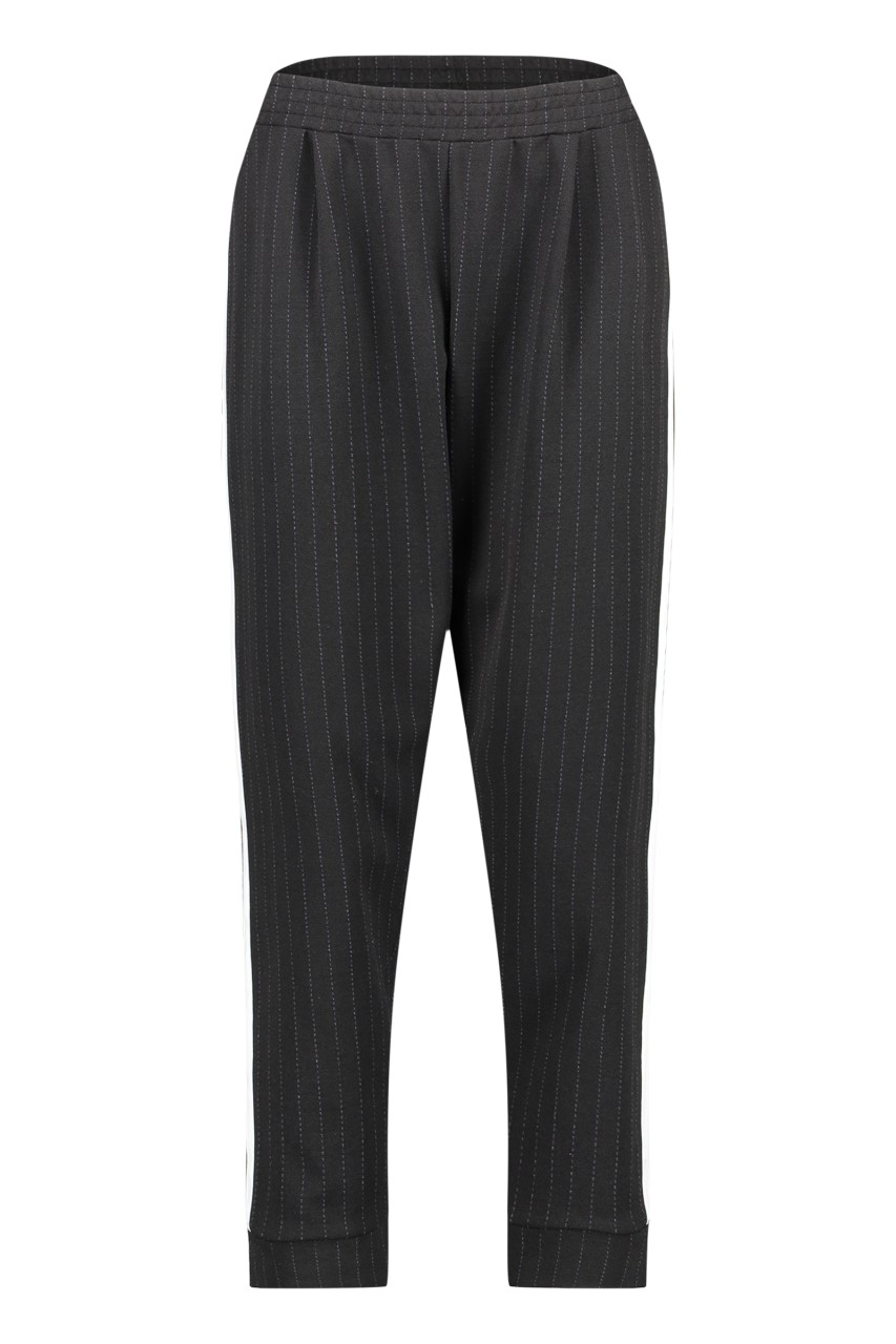 Penn & Ink NY - Trouser Stripe - black/ecru