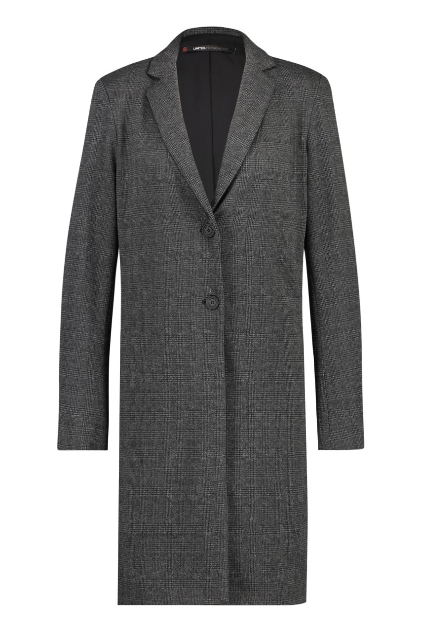 Penn & Ink NY - Longblazer Check 386 - dark grey