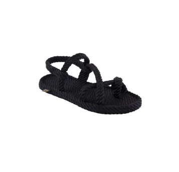 Bohonomad - Vegan Rope Sandals - Capri - black