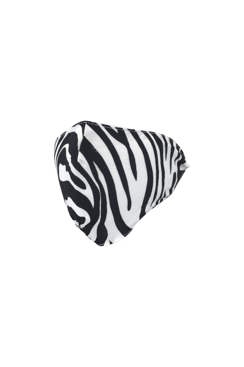 Black Colour - Face Mask - zebra