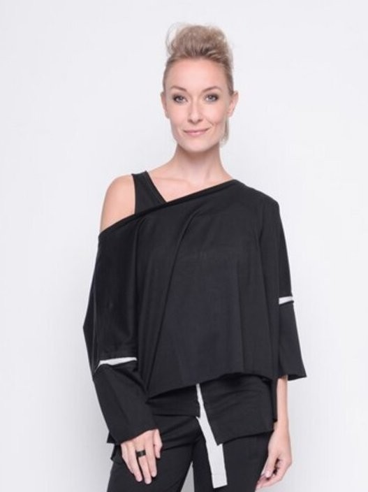Black by K&M - Short Top - Black