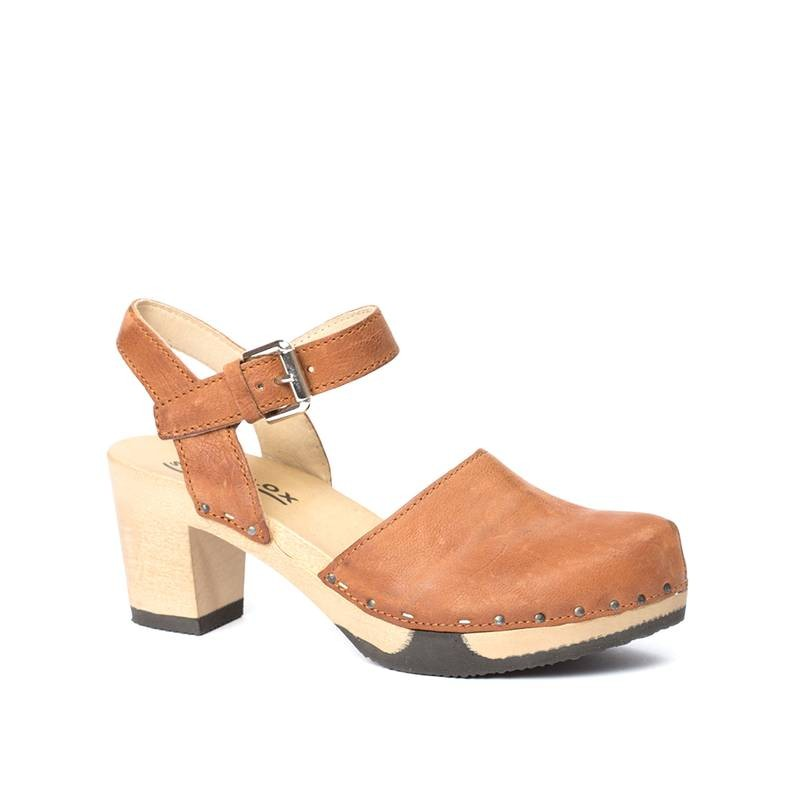 Clogs - Clog Vonda nature nappa cognac  - Onlineshop Olden Mea