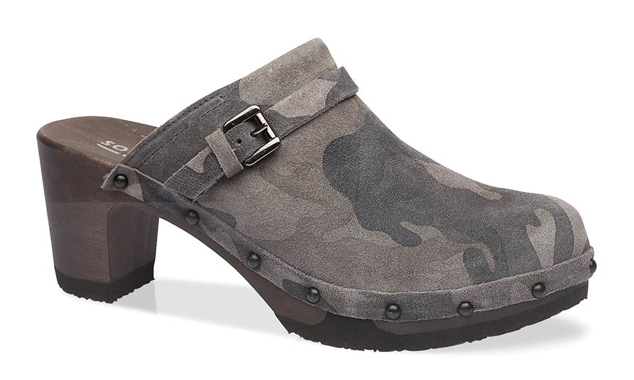 Softclox - Clog - Hetty - camouflage - granit