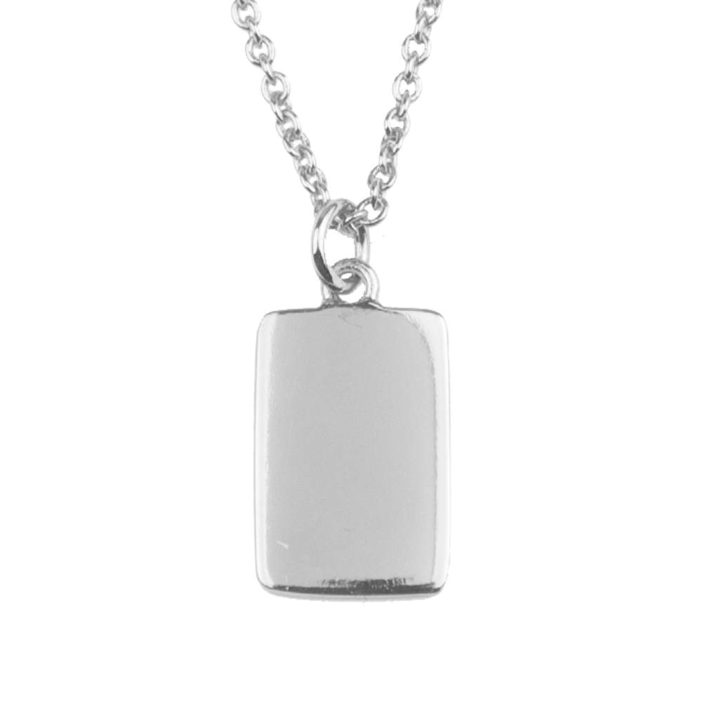 All the luck in the World - Necklace - Card - silver