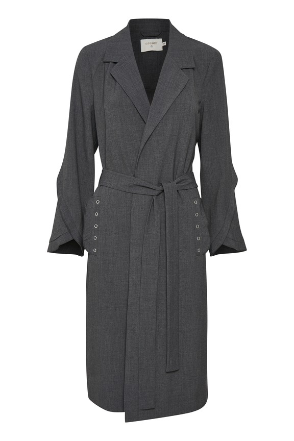 Cream Clothing - Julie - Coat - grey melange