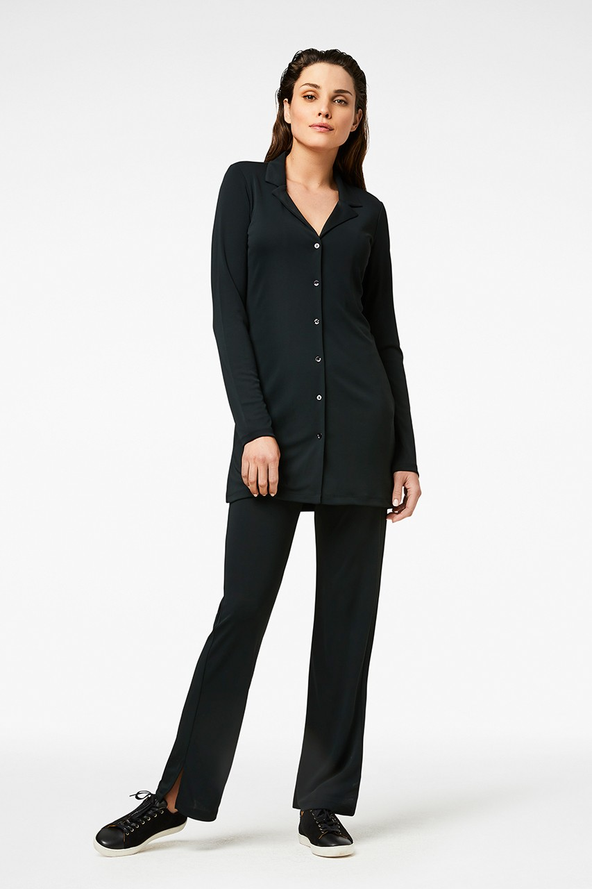 Simple - Meike - Longblouse - Black