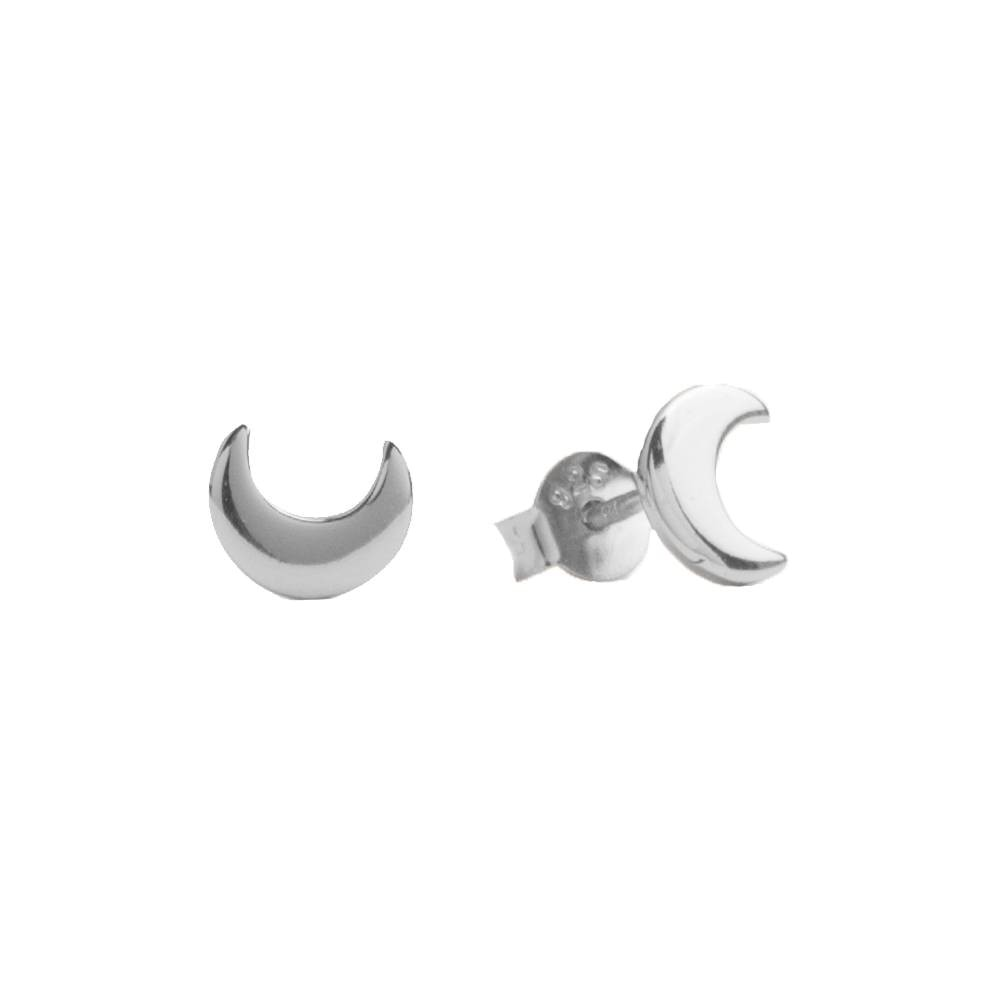 All the luck in the World - Earrings - Moon - silver