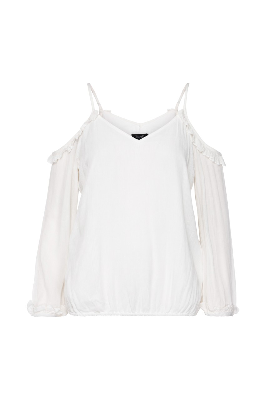 Sisters Point - Schulterfreie Bluse - Ada - offwhite