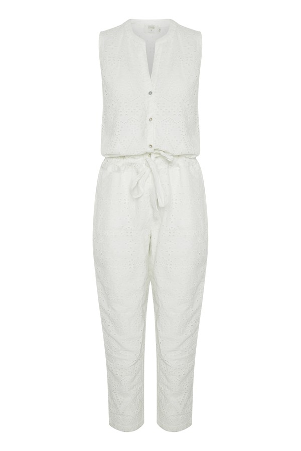 Hosen - Hannah Jumpsuit white  - Onlineshop Olden Mea