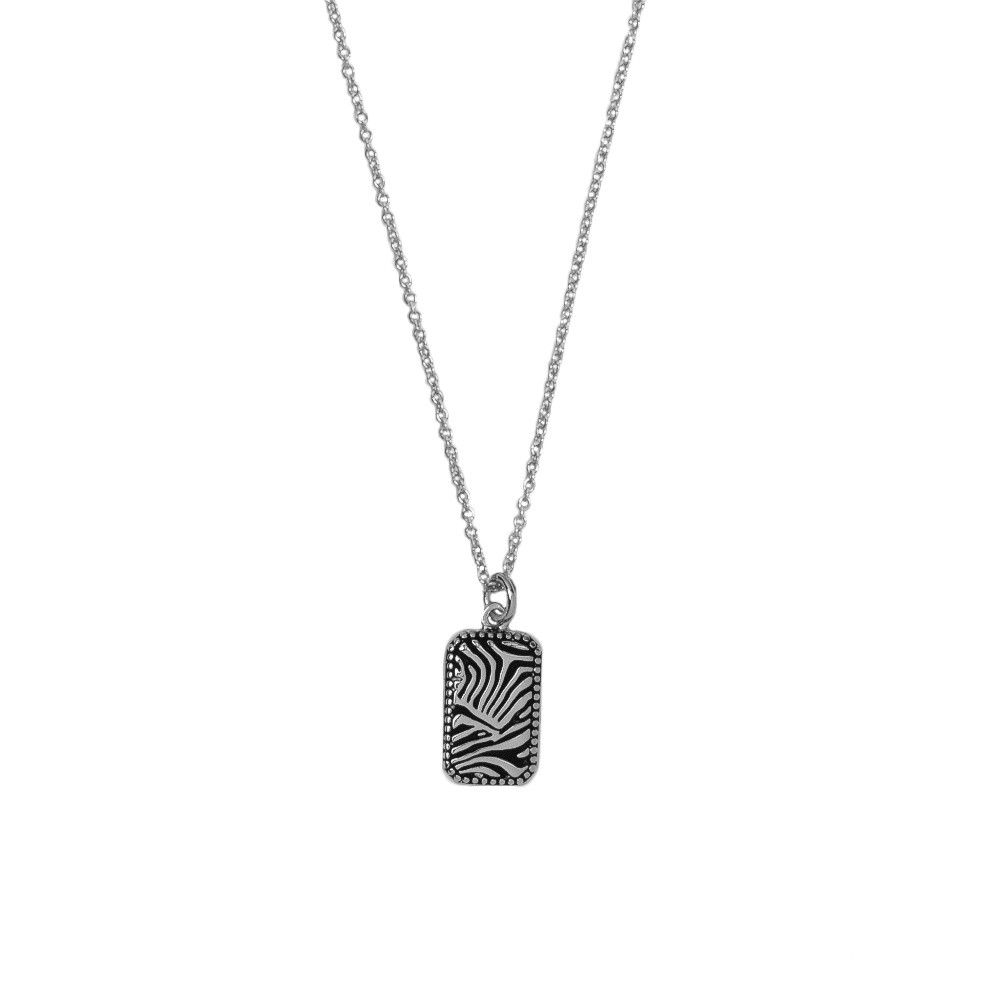 All the luck in the World - Necklace - Zebra - silver