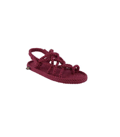 Bohonomad - Vegan Rope Sandals - Cape Point - bordeaux