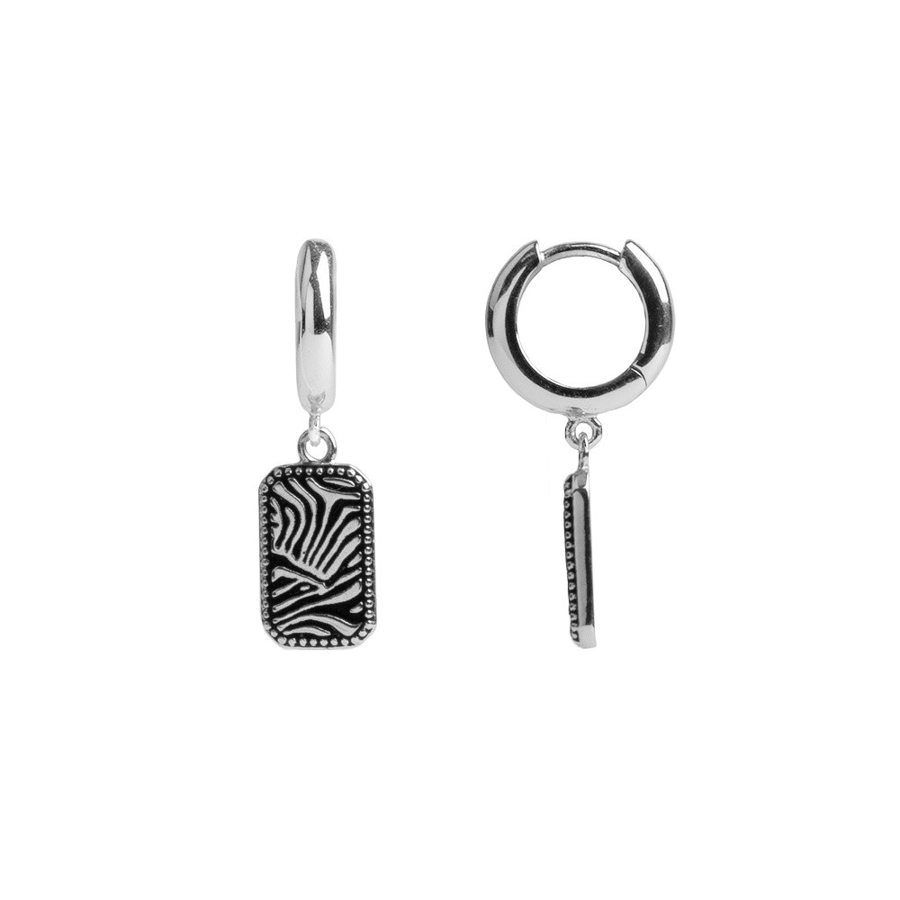 All the luck in the World - Earrings - Zebra - silver