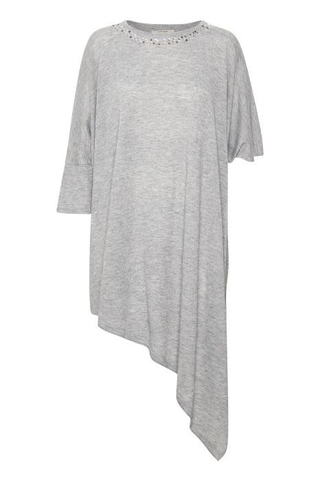 Cream Clothing - Enya - Poncho - light grey melange